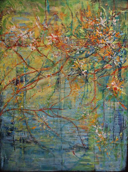 Marleen De Wale-De Bock - Summer Mood - acrylic - 48 x 36 inches