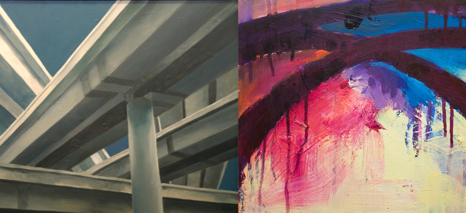 Comparing my painting from 2004 to 2016. The colors and details are different, but the overall forms are similar.