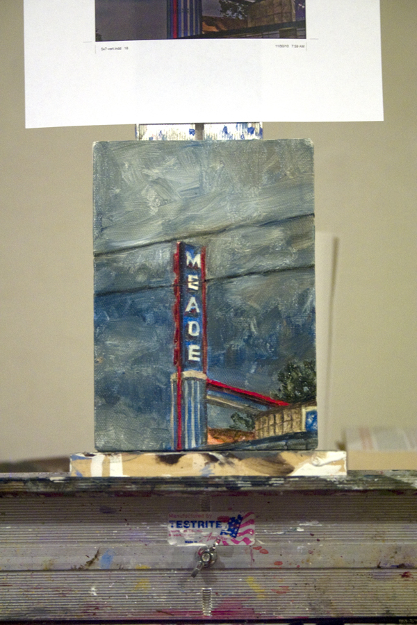 Brad Blackman - Nashville365 Series, Number Three: Meade, 2011. Oil on canvas, 5 x 7 inches