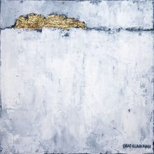 """Brad Blackman """"In Sun and Snow,"""" acrylic on canvas. 10 x 10 inches"""