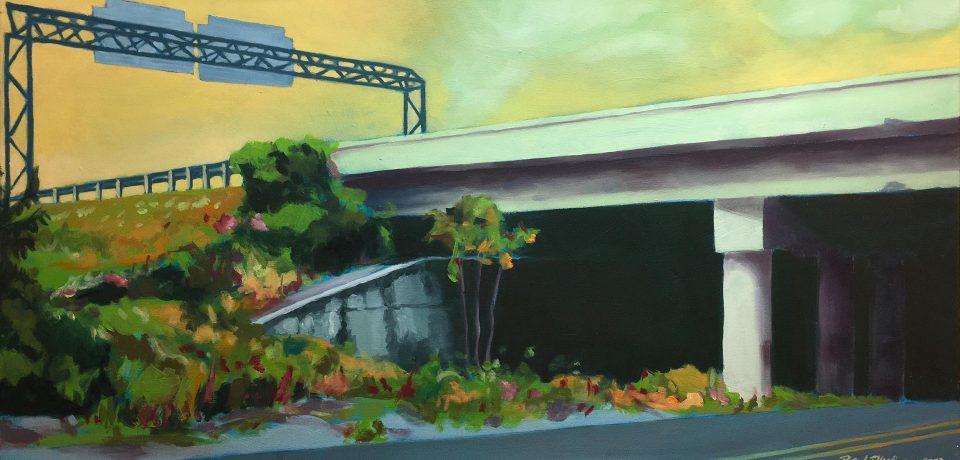 "Brad Blackman ""McGavock"" 2003. Oil on canvas, 40 x 20 inches"