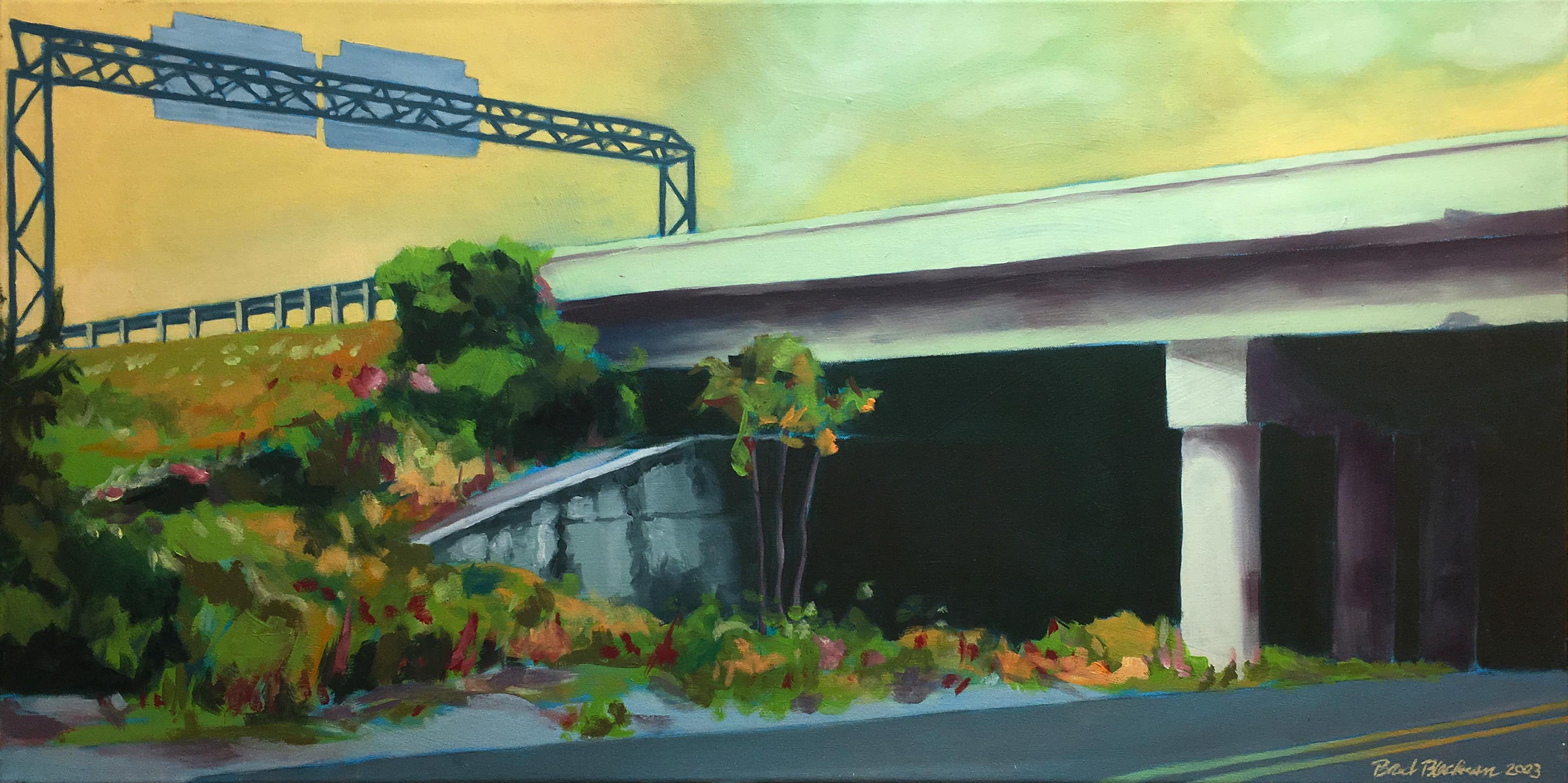 "Brad Blackman ""McGavock"" 2003. Oil on canvas, 40 x 20 inches"