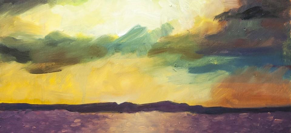 Brad Blackman, 2014. Percy Priest Sunrise, Oil on panel