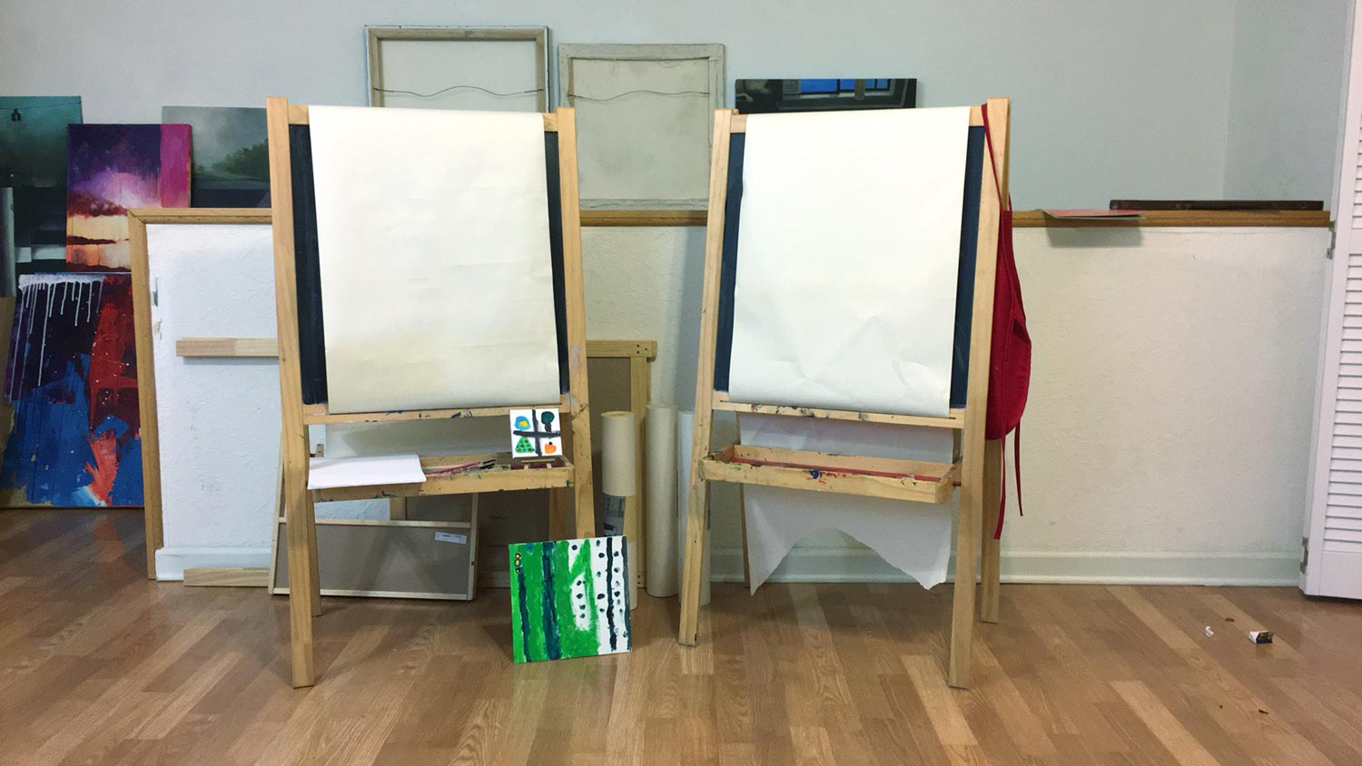 IKEA easels in the studio