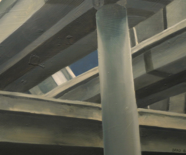 "Brad Blackman, ""Interchange"" oil on canvas, 30 x 40 inches. 2004 (Not for Sale)"