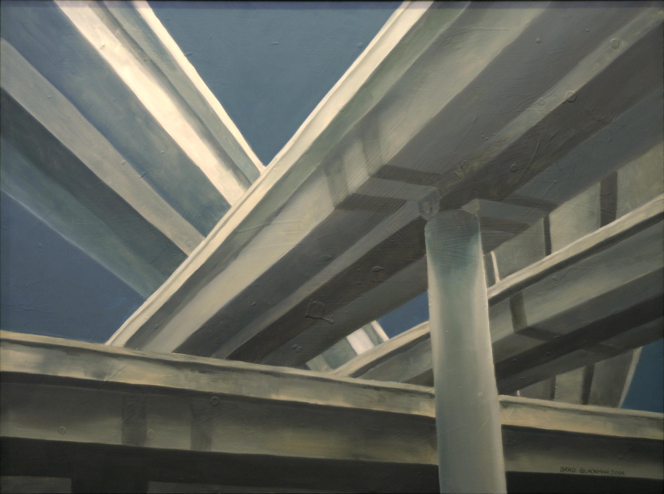 Brad Blackman, Interchange, 2004. oil on canvas, 30 x 40 inches