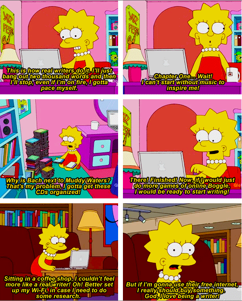 Lisa Simpson Decides to Write a Book