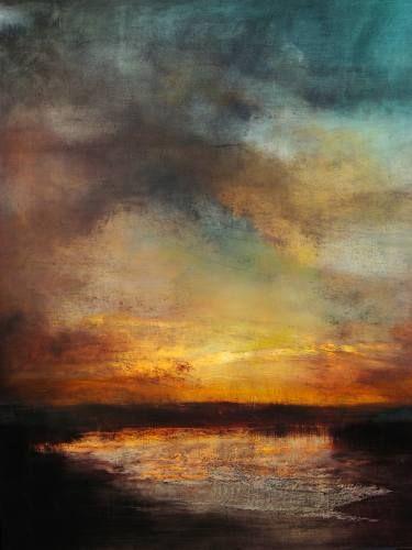 """Maurice Sapiro """"Sunset, Reflected"""" 38 x 32 in"""
