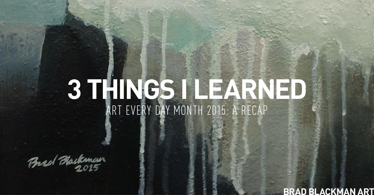 Art Every Day Month 2015 Recap