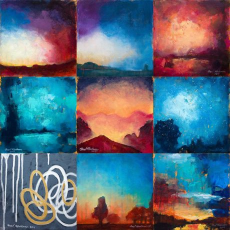 Nine paintings created or otherwise finished during November 2017, aka Art Every Day Month (AEDM) 2017