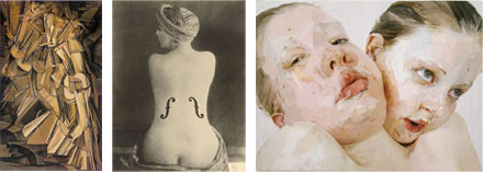 Image: The Human Body in Art: exploded, as a musical instrument, and as an expression of visceral physicality