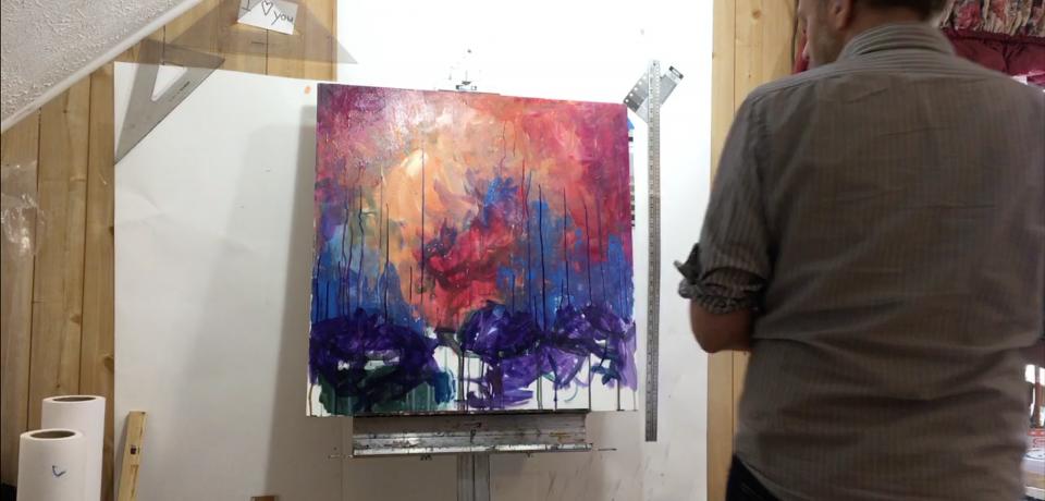 Brad Blackman in the studio, January 2020