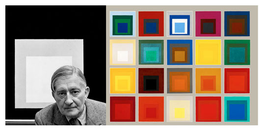 "Josef Albers did a lot over his career, but what really stands out for me is his series ""Homage to the Square"" that explored color relationships within a simple standard framework."