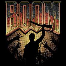 Image: DOOM/Army of Darkness t-shirt art mashup by Jimiyo