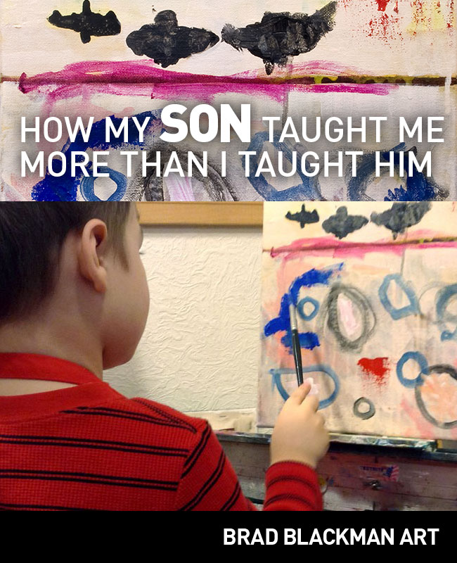 My son taught me more than I could teach him