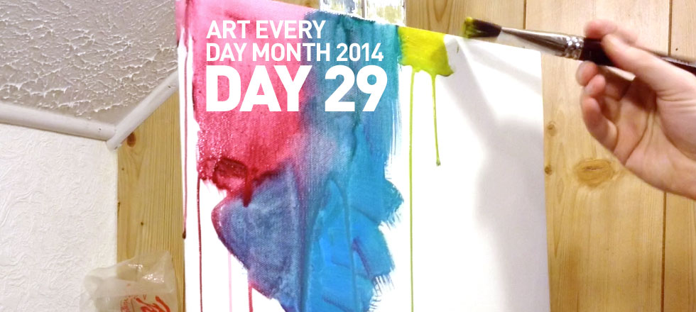 Colorful Drips - Day 29 of Art Every Day Month 2014