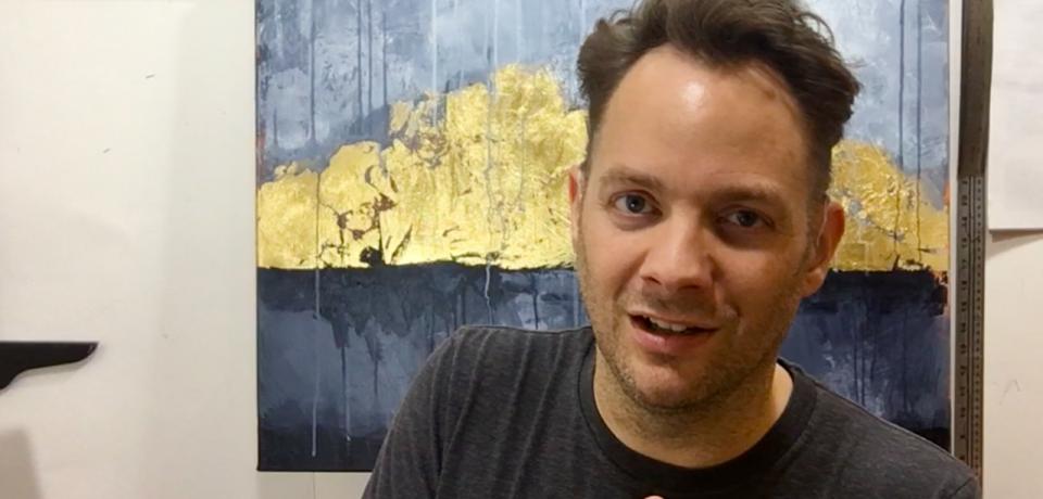 Brad Blackman, fine artist, talking about how he got started as an artist