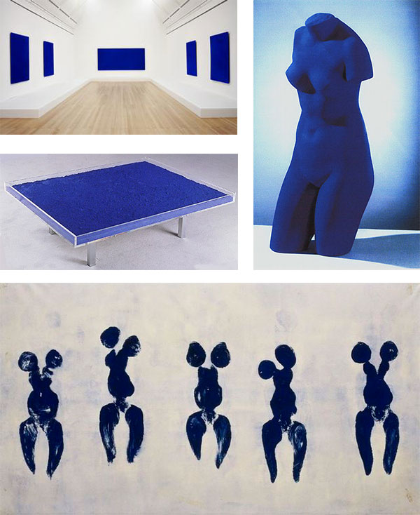 Yves Klein painted everything blue.