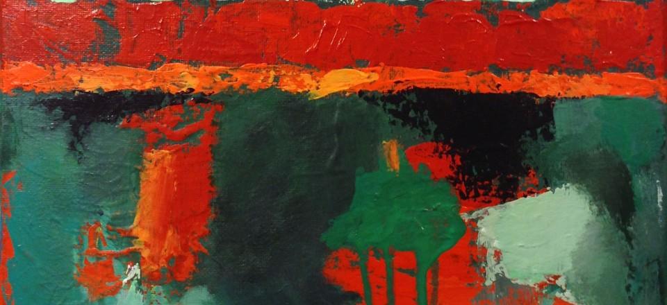 Brad Blackman - Ireland, acrylic on canvas, 2015. 12 x 12 inches