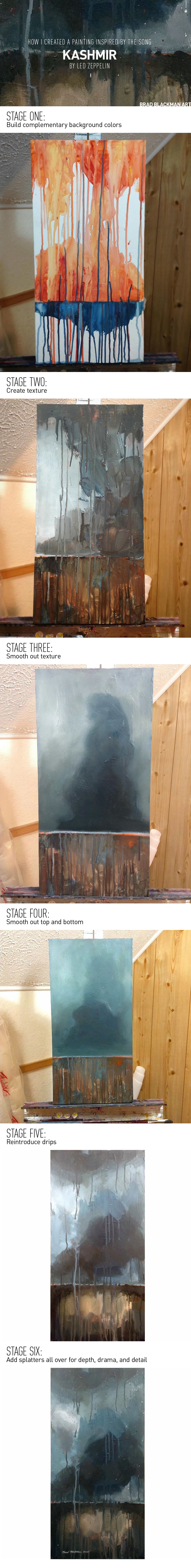 """Brad Blackman's 6 steps to a painting inspired by """"Kashmir"""""""