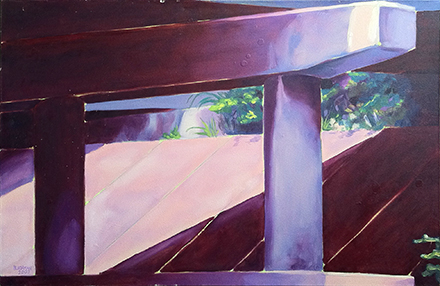 """Overpass"" Brad Blackman oil on canvas, 24 x 30 inches. 2003"