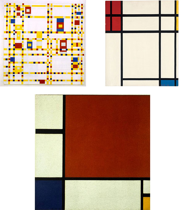 Piet Mondrian's grid of primary colors has been imitated for decades.