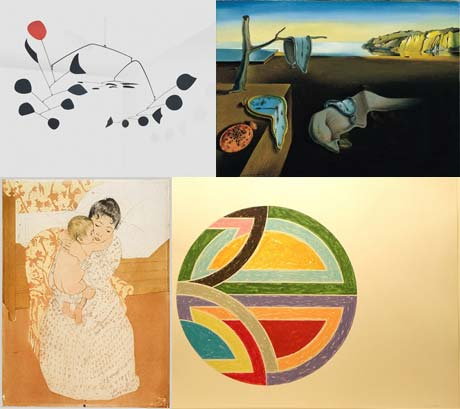 Recognizable Artists: Calder, Dali, Cassatt, Stella