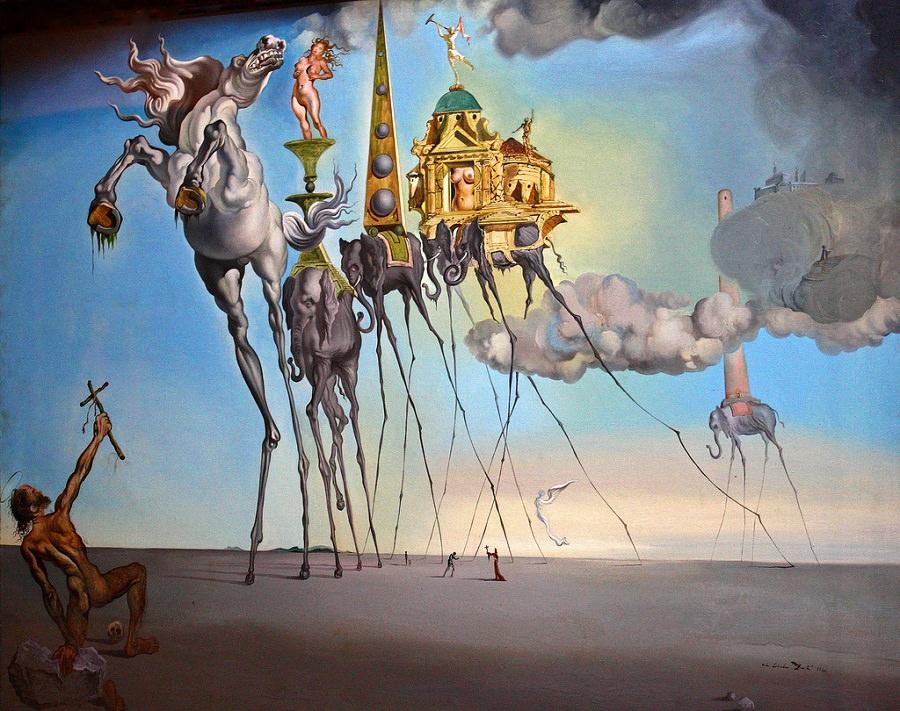 Salvador Dalí The Temptation of Saint Anthony - 1946