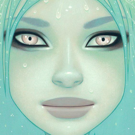 Tara McPherson - The Crystal Waterfall (detail)