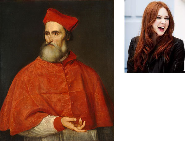 Titian Red isn't just for Cardinal Pietro Bembo. It's for Karen Gillian's hair, too.