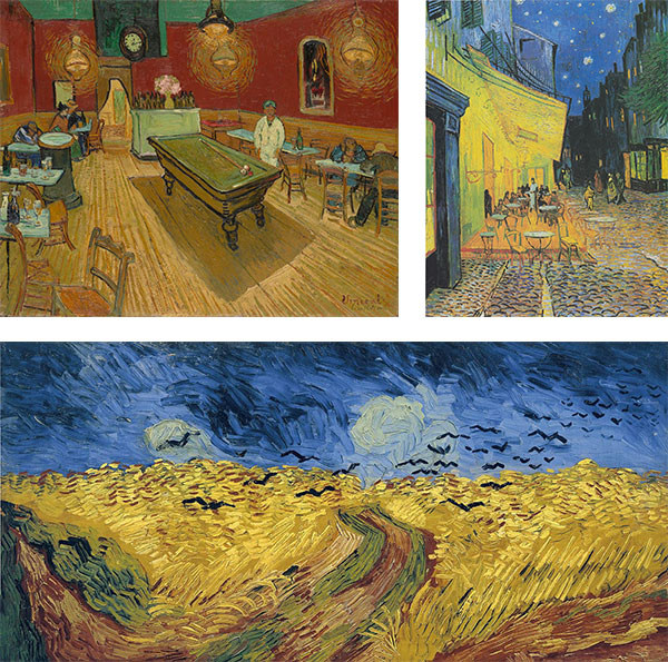 When I think of Vincent I think of yellow and blue, and sometimes blood red and garish green.