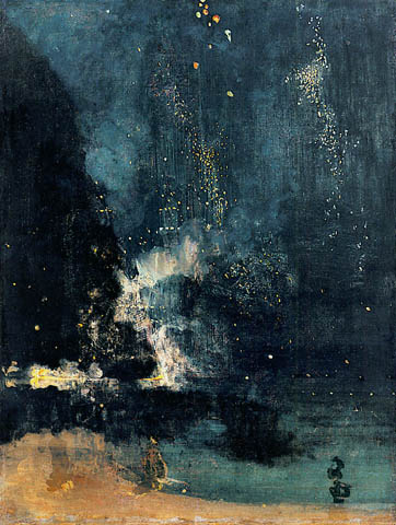James McNeill Whistler - Nocturne in Black and Gold: The Falling Rocket, 1875