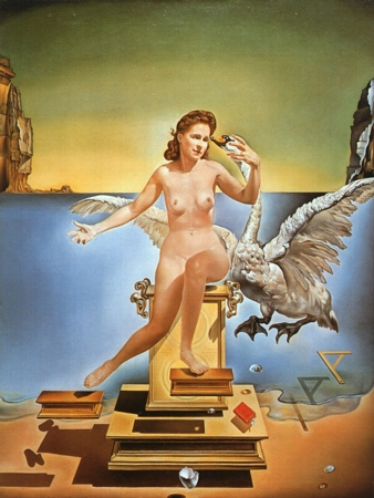 Salvador Dali, Leda Atomica, 1949. Oil on Canvas, 61.1 cm × 45.3 cm (24.1 in × 17.8 in). Dalí Theatre and Museum, Figueres.