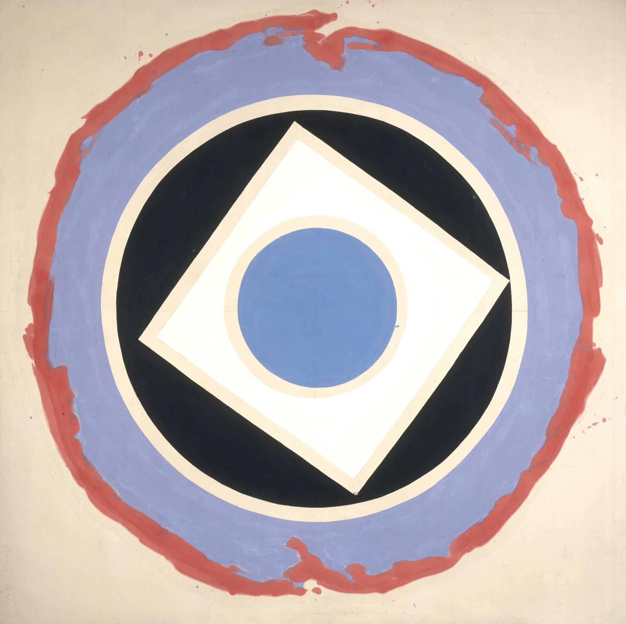 "Kenneth Noland, ""Split."" 1959. Acrylic on canvas, 94 x 94 inches."