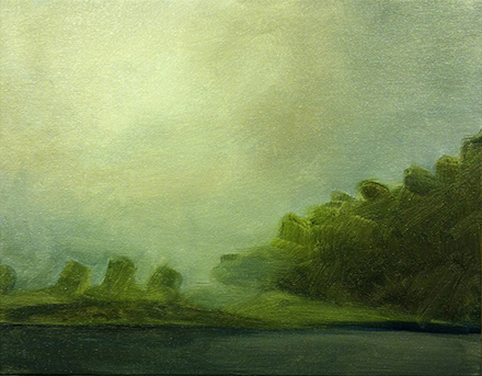 Morning Fog, 2013. Oil on canvas board, 14×11 inches